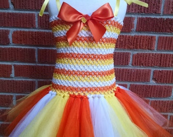Candy Corn Dress - Candy Corn Tutu - Candy Corn Halloween Costume - Candy Corn Costume - Candy Corn Tutu  - Halloween - Toddler Costume