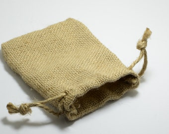 MEGA SALE! 10pcs Burlap Drawstring Pouches, 5cm x 7cm Jute Bags, Hessian, Storage, Gift, Packaging, Vintage #SD-S7748-S