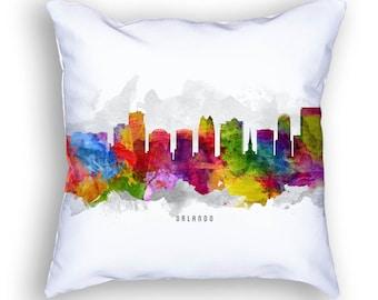 Orlando Pillow, Orlando Skyline, Orlando Cityscape, Orlando Cushion, 18x18, Cushion, throw pillow,  Home Decor, Gift Idea, Pillow Case 13