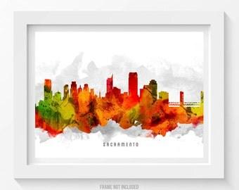 Sacramento California Skyline Poster, Sacramento Cityscape, Sacramento Art, Sacramento Decor, Home Decor, Gift Idea 15
