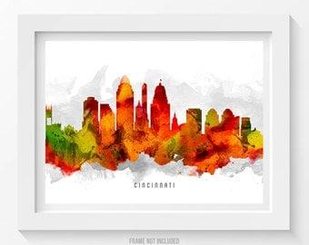 cincinnati skyline poster cincinnati cityscape cincinnati print cincinnati art cincinnati decor home decor gift idea usohci15p - Home Decor Cincinnati