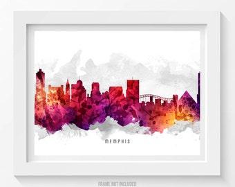Memphis Tennessee Skyline Poster, Memphis Citscape, Memphis Art, Memphis Decor, Home Decor, Gift Idea 14