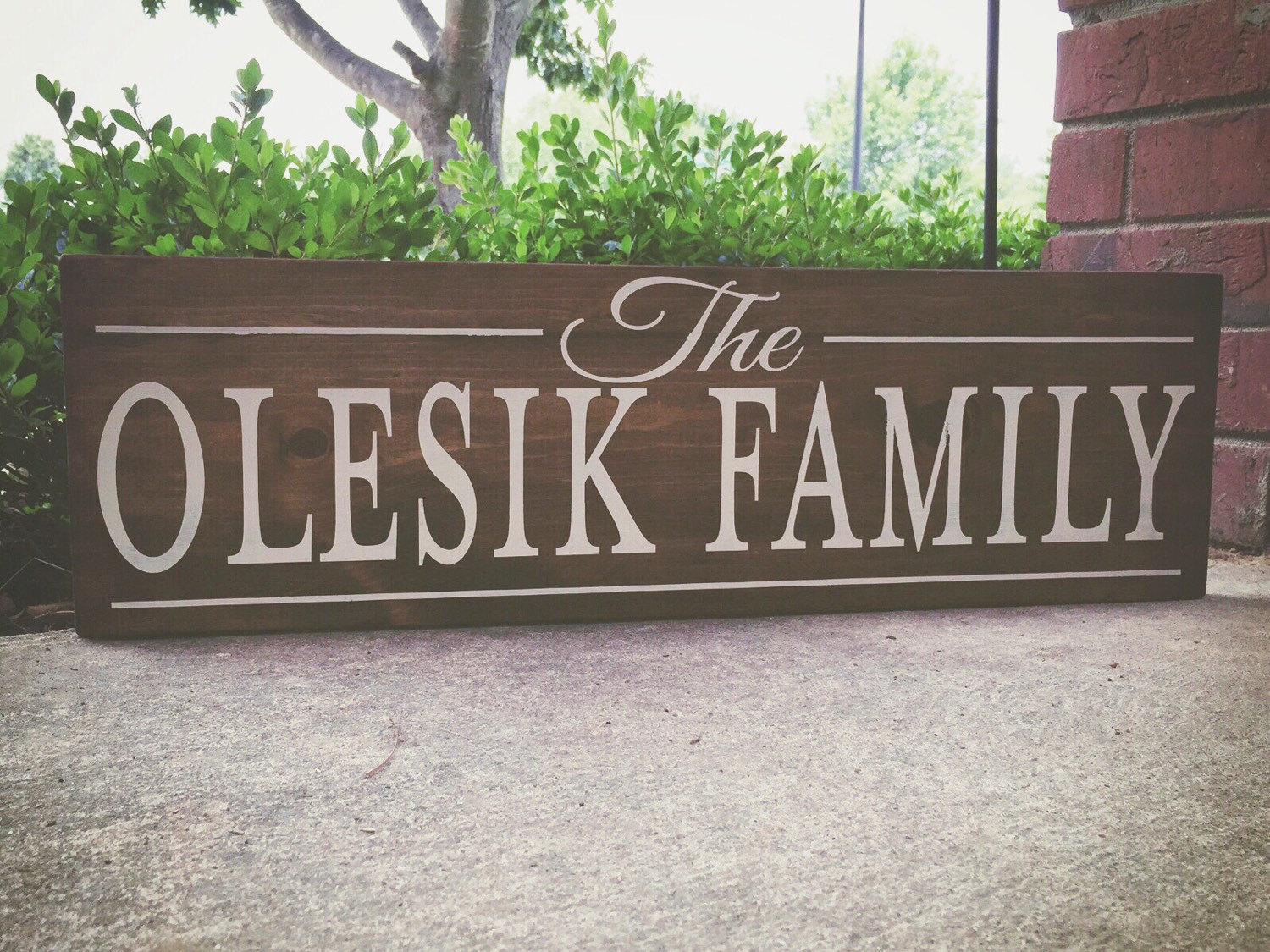 Family Name Wood Sign 10x30