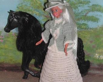 Crochet Fashion Doll Barbie  Pattern- #418 TO THE HUNT