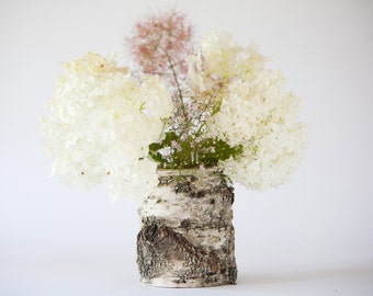 Rustic Wedding Vase Log Vase Flower Vase Woodland Wedding Decoration Rustic Accent