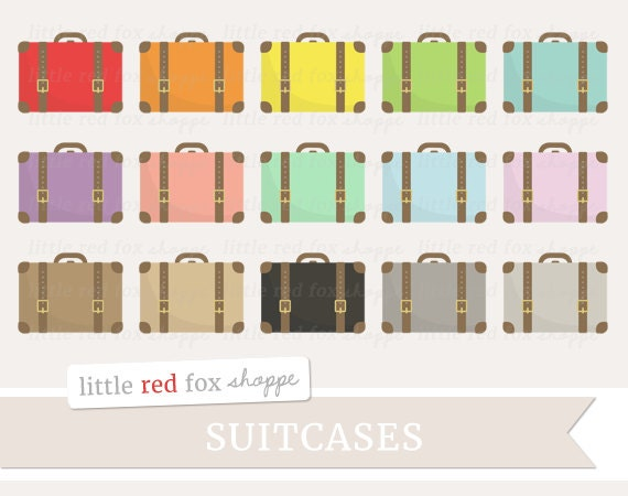 suitcase clipart travel clip art vintage luggage bag case