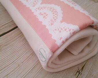 ORGANIC Fancy Lace Baby Blanket - 100% ORGANIC COTTON