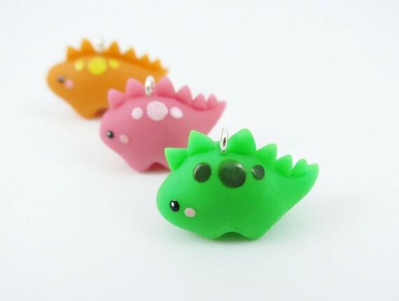 Items Similar To Polymer Clay Baby Stegosaurus Dinosaur