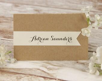 Rustic Flower Wedding Place Card