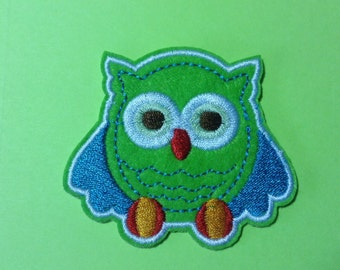 Iron on Sew on Patch:  Little Green Owl