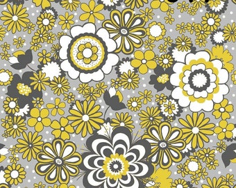 Riley Blake Fabrics Parisian  Fabric - Geometric Flowers