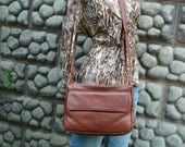Soft  leather multi compartment crossbody and shoulder bag. Style #269