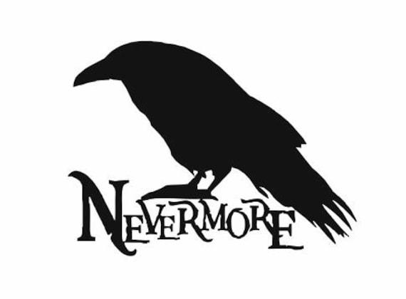 Nevermore Raven Halloween Decal Edgar Allan Poe Poem Raven