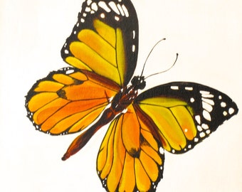 Yellow Butterfly, Painting for Kids Room
