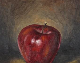 Red Apple, Kitchen Still Life, Food Still Life, a Small Gift