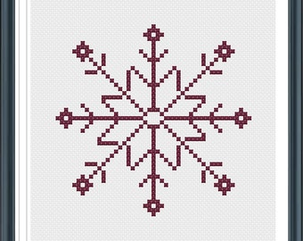 Snowflake Cross Stitch, Cross Stitch Pattern, PDF File