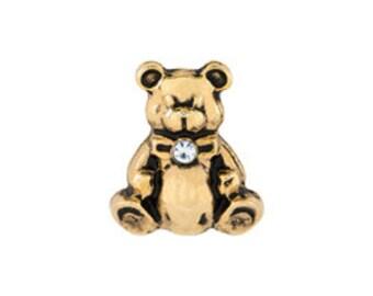 Teddy bear floating locket charm