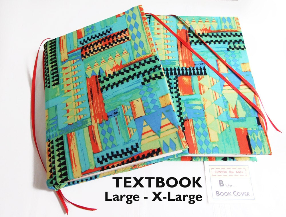 Book Cover Material Xl ~ Stretch book cover for textbooks in triangles l xl school