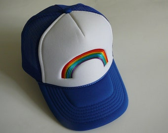 "Toddler & Kids ""Over the Rainbow""  Vintage Trucker Hat"