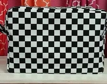 Black - Square Cosmetic Bag - FREE Monogram!!
