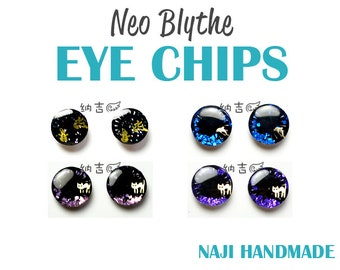 Blythe eye chips big black pupil/snowman cat dolphin  - [NAJI810 HANDMADE]