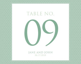 Vintage Theme Table Numbers - Vintage Inspired Table Numbers - Wedding Table Numbers - Contemporary Vintage Square Table Numbers - Retro