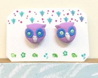 Lilac Owls ~ Earrings