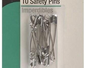 """1 1/2"""" Dritz 10 Safety Pins - 72-2"""