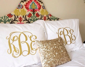 One Monogrammed Pillow Sham