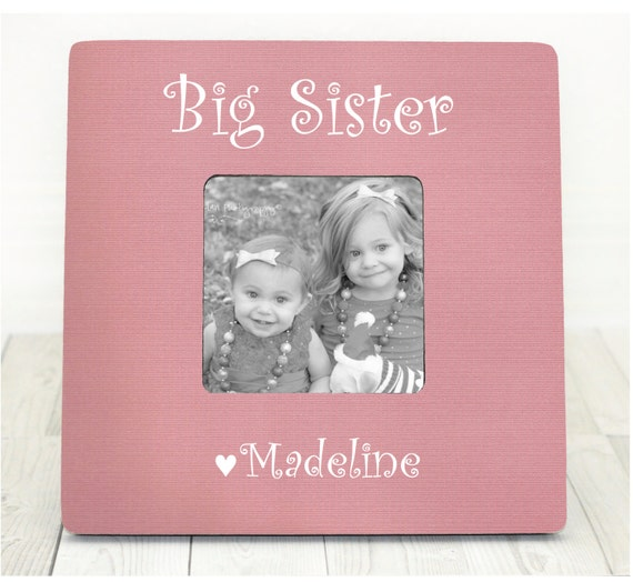 Personalized Picture Frame Big Sister Frame Little Sister