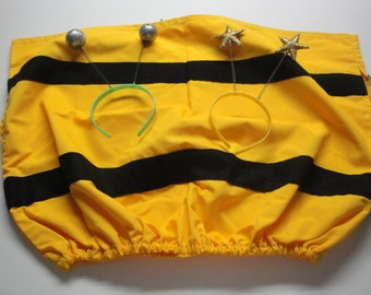 Bumblebee Costume - Size 2 - 4 - Star or Ball Antennae Included