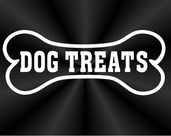Dog Treats Decal, Labels, Pet Food Container, Canister, Jar, Vinyl Decals, Stickers 10822