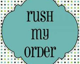 1-2 day RUSH Shipping w/ Priority 2 Day Mail