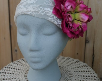 Lace and Flower headband