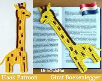 045NLY Giraf Boekenlegger - Amigurumi Haakpatroon - PDF by Zabelina Etsy