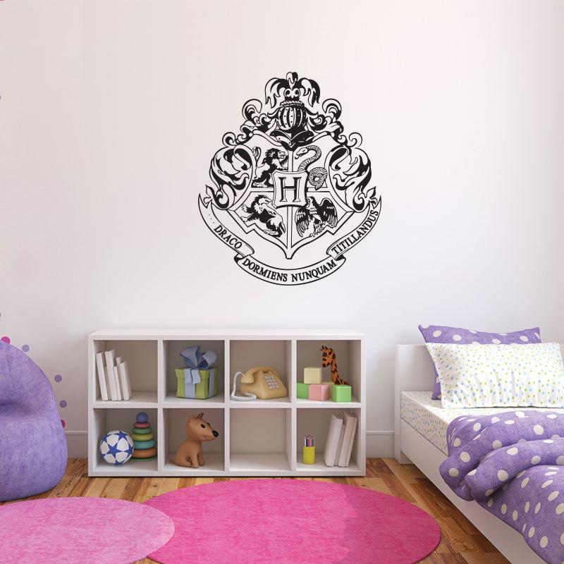 Harry potter hogwarts crest wall decal - Crest home design curtains ...