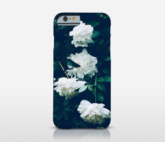 Peony Cell Case, White Flower Cover, iPhone 7 Case, Tough Cases, Floral Phone Case, Iphone 6 Plus, HTC One, Moto G and more