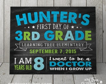 First Day of School Chalkboard Sign - 1st Day of School Sign - Back to School Sign - First Day of School Sign - Chalkboard Sign