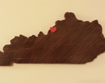 "I ""HEART"" MY TOWN......22 inches.....""any city or town, any state""..... wooden wall display"