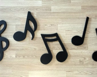 """MUSICAL NOTES.....15"""" and 12"""".....wooden wall display"""