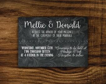 Edan - Printable Wedding Invitation