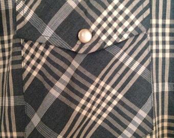 Blair Vintage Western Pearl Snap  Shirt Mens Large/XL