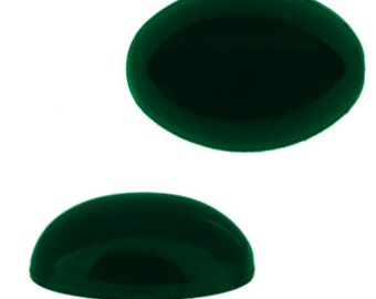 18x13mm Oval Lucite Cabochon - Emerald (72pcs)