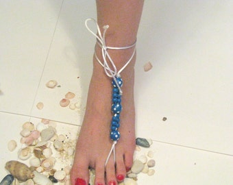 Barefoot Sandals, Nude shoes, Foot jewelry,Wedding, Victorian Lace, Sexy, Yoga, Anklet , Bellydance, Steampunk, Beach Pool
