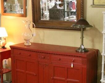 Stunning red dresser