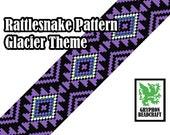 Loom Beading Pattern - Rattlesnake (Glacier Theme)