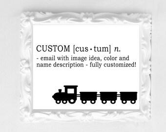 Custom Designed Name Print Wall Art Birthday Holiday Gift