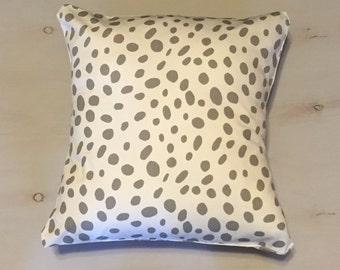 Gray Dot Pillow Sham, Decorative Pillow Sham Envelope Pillow Sham, 18x18 Pillow Sham
