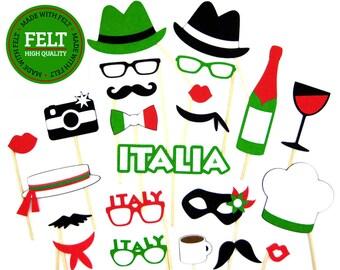 Italian Photo Booth Props 100% FELT
