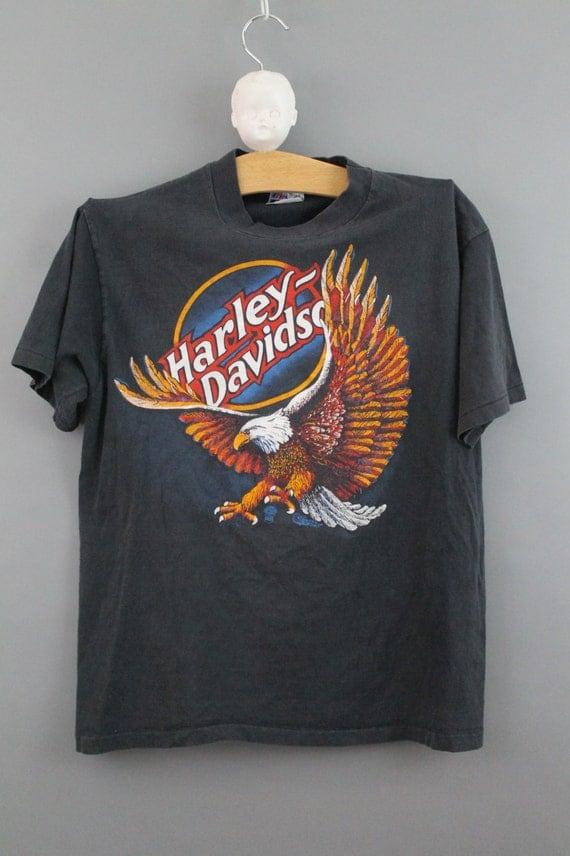 harley davidson vintage tshirt faded worn by. Black Bedroom Furniture Sets. Home Design Ideas